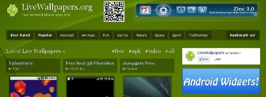 たくさんのライブ壁紙がコレクションされている「LiveWallpapers.org」