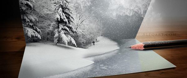 気づけばもうそんな季節。クリスマスデザインのフォトショップチュートリアル